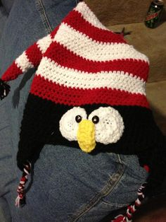 #crochet #penguin elf hat!