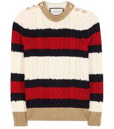 mytheresa.com - Embellished wool sweater - Luxury Fashion for Women / Designer clothing, shoes, bags