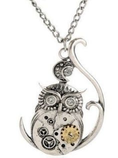 This Steampunk owl is a perfect addition to your wardrobe! Limited quantity, not available in stores. Get yours here >> https://www.steampunkempirestore.com/products/steampunk-owl-necklace-1