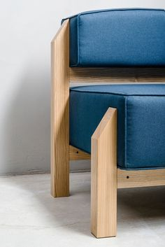 T-block on Behance Modern Furniture, Furniture Design, Wooden Sofa Designs, Low Chair, Small Sofa, Create Space, Upholstered Furniture, Furniture Inspiration, Armchair