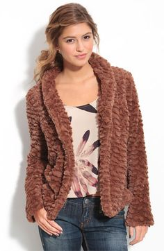 Hey! It's that faux-fur coat I wanted -- and at a good price. Score.