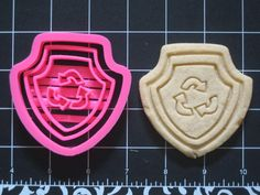 Paw Patrol Rocky Recycle Cookie Cutter Stamp Set Pink BPA FREE | Unique Cookie Cutters