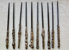 Your place to buy and sell all things handmade Wizard Wand, Harry Potter Wand, Dinner Themes, Harry Potter Birthday, Wands, Fun Crafts, Party Favors, Bronze, Baby Shower