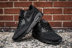 "Nike Air Max 90 Ultra BR ""Triple Black"" (Detailed Pics) - EU Kicks: Sneaker Magazine"