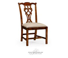 Chippendale style classic walnut chair (Side) #hpmkt #jcfurniture #jonathancharles #Furniture #InteriorDesign #Windsor