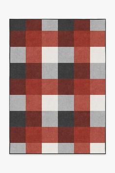 Our classically charming Buffalo Plaid Black and Red rug, displaying high-contrasting colors of poppy red, eggshell and neutral grey, is sure to enhance your decor. Washable Area Rugs, Machine Washable Rugs, Buffalo Plaid, Burgundy Rugs, Navy Rug, Yellow Rug, White Rug, Black White, Log Homes
