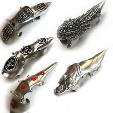 Metal Finger Claws 10 Types Sold Separately / Goth  Metal  Biker  Fantasy  Rock