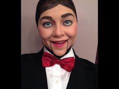 Ventriloquist Dummy Creepy Doll Makeup Tutorial - YouTube