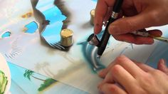 Harder & Steenbeck Airbrush: Dolphin Stencil Step by Step