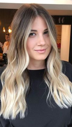 63 stunning examples of brown ombre hair 63 stunning examples of brown ombre hair Medium Blonde Hair, Blonde Hair Looks, Dyed Blonde Hair, Brown Blonde Hair, Blonde Ombre, Dark Roots Blonde Hair, Ombre Hair Color, Hair Color Balayage, Hair Highlights