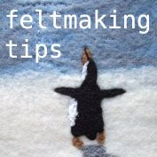 I like this combination of wet and needle felting!     felt making tips - free tutorial