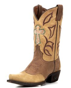 Women's Loretta Cross Boot - Light Tan and Natural Saddle