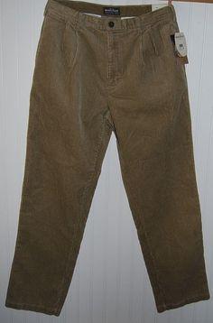 Woolrich NWT Men's 32 x 32 Khaki Tan Corduroy Pants Cotton #Woolrich #Corduroys