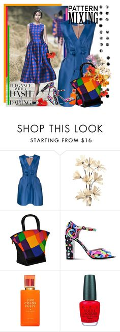 """""""Pattern Mixing"""" by vittorio-1 ❤ liked on Polyvore featuring PAM, Lanvin, Charles Jourdan, Boutique Moschino, Kate Spade and OPI"""