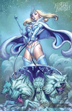 Disney princess pin-up by J. Scott Campbell