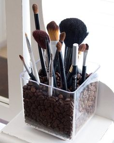 Makeup brushes not coffee beans though