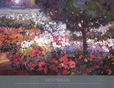Garden Palette Poster by Kent Wallis for $31.25 CAD