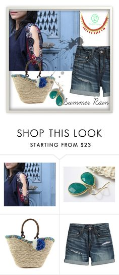 """""""Summer rain - outfit"""" by alexandra-balau ❤ liked on Polyvore featuring Canvas by Lands' End, floraltrends, fashionset, Etsyfinds, dichisshop and minimalnecklace"""
