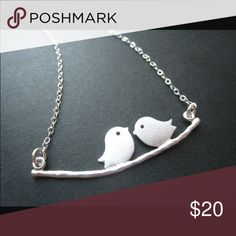 Love Birds Silver Necklace Dainty and great for layering! Brand new and comes with box! Jewelry Necklaces