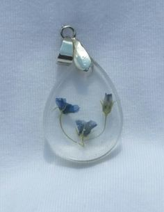Items similar to Real Blue Wildflower Resin Pendant on Etsy World Crafts, Resin Pendant, Wild Flowers, Unique Jewelry, Pendants, Handmade Gifts, Floral, Blue, Etsy Shop