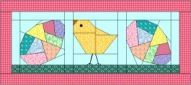 Crazy Easter Egg  pattern and Struttin' Chick pattern by Patchpieces.com: Quilt & Pieces by Patti R. Anderson