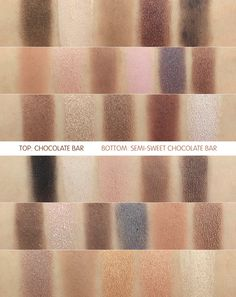 Too Faced Semi Sweet Chocolate Bar Eyeshadow Palette Review & Swatches + Comparison to the Chocolate Bar Eyeshadow Palette