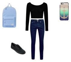 """bored."" by princessiris7 ❤ liked on Polyvore featuring beauty, Herschel Supply Co., Boohoo, Keds and Casetify"