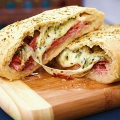 Stromboli - a very tasty addition to your Super Bowl spread!