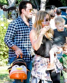 Spotted: Hilary Duff & family with our Penguin Zoo Pack!
