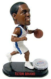 Los Angeles Clippers Elton Brand Forever Collectibles Blatinum Bobble Head
