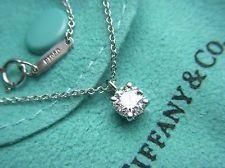 Tiffany solitaire diamond necklace