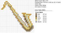 Free Cross Stitch Pattern - Saxophone by ~carand88 on deviantART