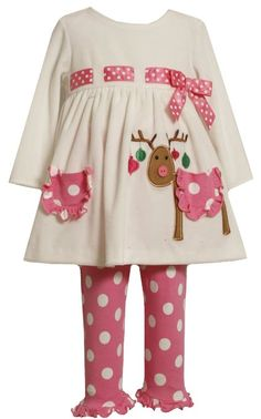 Amazon.com: Bonnie Baby-girls Infant Reindeer Legging Set: Clothing