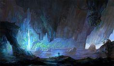 Cave Entrance by allisonchinart.deviantart.com on @deviantART