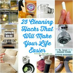 25 Cleaning Hacks That Will Make Your Life Easier – DIY & Crafts
