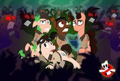 #1077859 - artist:animatedvisions, earth pony, egon spengler, ghostbusters, peter venkman, pke meter, ponified, raymond stantz, safe, unicorn - Derpibooru - My Little Pony: Friendship is Magic Imageboard
