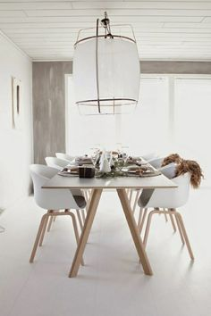 Dining white Scandinavian minimalist industrial lamp