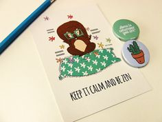 Keep it Calm be Zen - Postcard