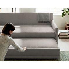 Modern Sleeper Sofa, Queen Sofa Sleeper, Modern Sofa, Sleeper Sofas, Best Sleeper Sofa, Sofa Bar, Pull Out Couch, Airstream Interior, Queen Mattress