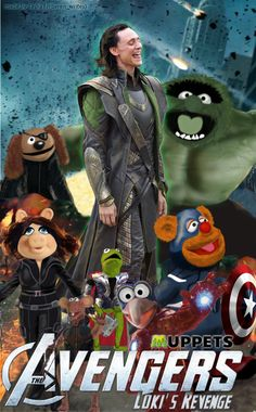 I totally blame Tom Hiddleston for this because he put Loki and the Muppets in my brain at the same time. In honour of his win at the JEAwards I thought Loki should have some fun too and thus this happened.