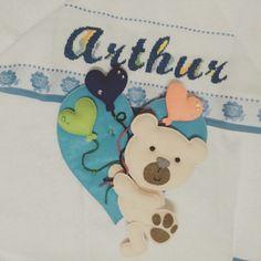Com carinho para o Arthur!!! Ursinho / feltro