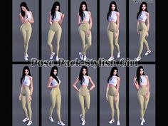 Sims 4 CC's - The Best: Pose Pack-Stylish Girl by Angissi