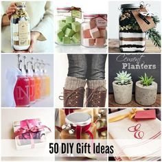 DIY Gift Ideas | Looking for the perfect gift idea? Check out these 50 DIY Gift Ideas.  Perfect for Christmas Gifts, Birthday Gifts or Holiday gifts for any occasion.