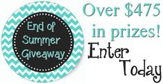 End of Summer Giveaway - Finding Sanity in Our Crazy Life