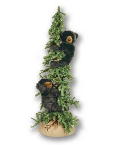 Alpine Frolic Tree Bear, 60 Inches - Available now from Lights in the Northern Sky www.lightsinthenorthernsky.com