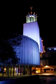 The Civic Centre at night, Newcastle upon Tyne, Tyne & Wear, England