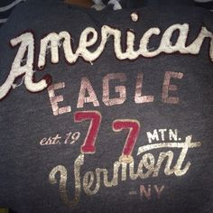 AE hoodie American Eagle grayish/blue hoodie with detail, hardly worn and super soft and cozy! American Eagle Outfitters Tops Sweatshirts & Hoodies