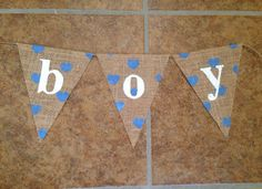 Baby Shower Baby Boy banner welcome baby Burlap Banner on Etsy, $10.00