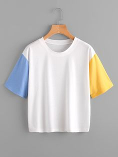 Color Block Cut And Sew Tee