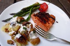 Simple and Sweet BBQ Salmon. Marinate a 1-pound piece of wild salmon in olive oil and 1-2 tablespoons soy sauce for about 30 minutes.    In separate bowl, whisk together 2 tablespoons hoisin sauce and the juice from one lime. Set aside.    Grill salmon about 3 to 4 minutes per side. Brush with the hoisin-lime sauce and grill, flesh-side down, for another 3 minutes.